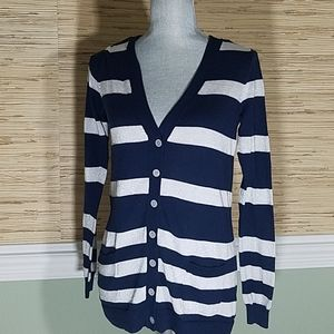 Cynthia Rowley Navy and Silver Sweater